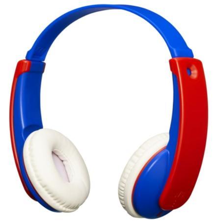 Наушники JVC беспроводные детские, модель HA-KD9BT-A-E, серия KIDS - Bluetooth. Цвет: синий/красный