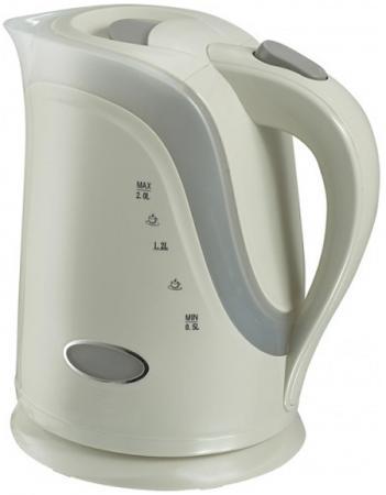 Чайник VES Electric 1017 2200 Вт 2 л пластик белый электрический чайник ves ves 1017 ves 1017