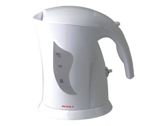 Чайник Supra KES-1201 900 Вт 1.2 л пластик белый мультиварка supra mcs 4703 белый 900 вт 4 л