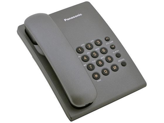 Купить со скидкой Телефон Panasonic KX-TS2350RUT титан
