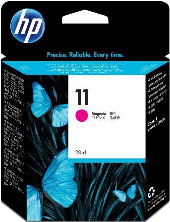 Картридж HP C4837A №11 пурпурный Inkjet 1100 2200 2300 Officejet 9100 20 30 картридж для принтера hp c8767he 130 black inkjet print cartridge
