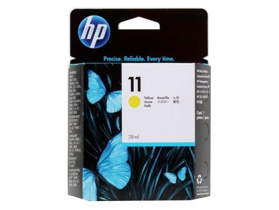 Картридж HP C4838AE №11 желтый Inkjet 1100 2200 2300 Officejet 9100 20 30 картридж для принтера hp c8767he 130 black inkjet print cartridge