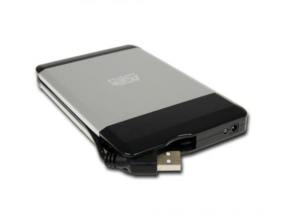 Внешний контейнер для HDD 2.5 SATA AgeStar SUB2A5 USB 2.0 алюминий внешний контейнер для hdd 2 5 sata agestar 3ub2o1 usb3 0 красный