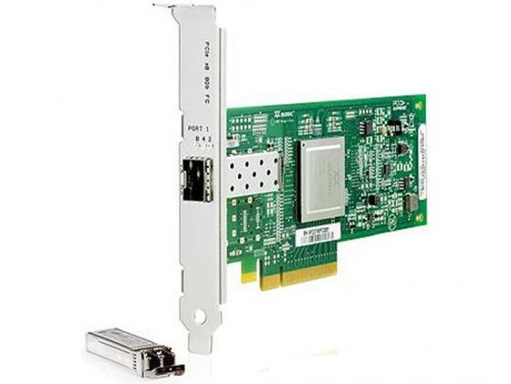 Адаптер HP StorageWorks FCA 81Q 8Gb FC Host Bus Adapter PCI-E for Windows, Linux (LC connector), incl. h/h & f/h. brckts (replace AE311A) [AK344A]
