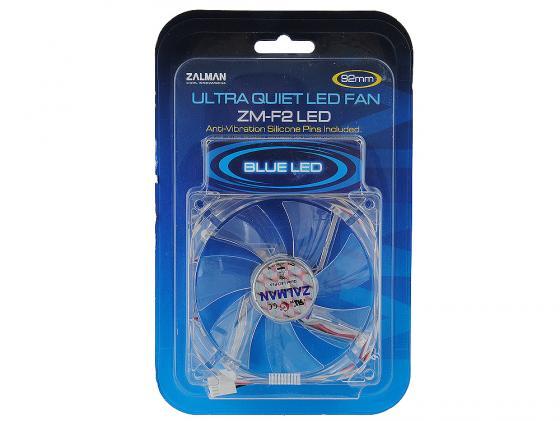 Вентилятор Zalman ZM-F2BL 92mm 1500-2800rpm синяя подсветка вентилятор zalman zm f2 plus sf 92mm 1500 2800rpm