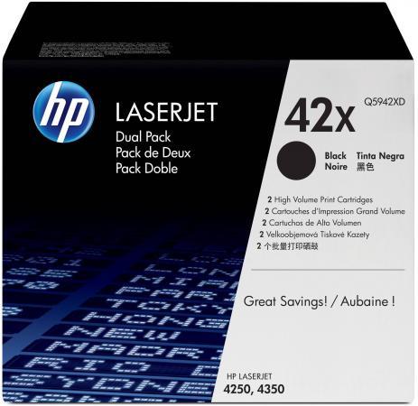 Картридж HP Q5942XD для LJ 4250 4350 двойная упаковка тонер картридж hp q5942xd черный черный x2уп для hp lj 4250 4350 40000стр