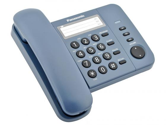 Телефон Panasonic KX-TS2352RUC синий panasonic kx tg8061 rub dect телефон