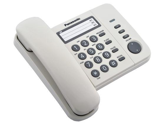 Телефон Panasonic KX-TS2352RUW белый телефон проводной panasonic kx ts2350ru