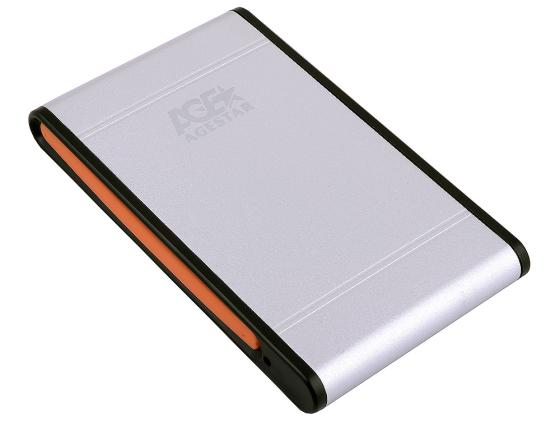 """Внешний контейнер для HDD 2.5"""" SATA AgeStar SUB2A1 USB2.0 серебристый цена и фото"""