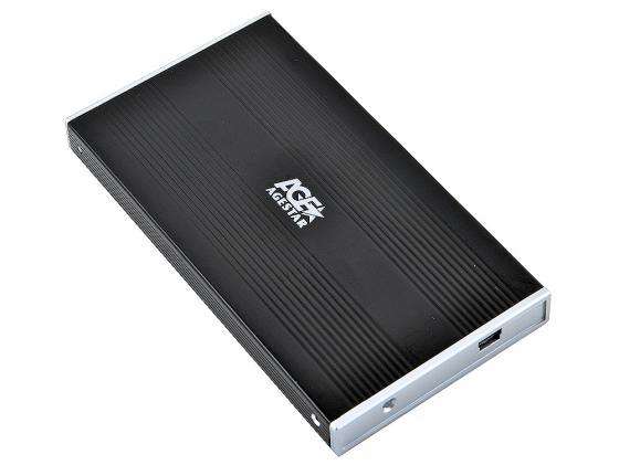 Внешний контейнер для HDD 2.5 SATA AgeStar SUB2S USB2.0 черный внешний контейнер для hdd 2 5 sata agestar 3ub2o1 usb3 0 красный