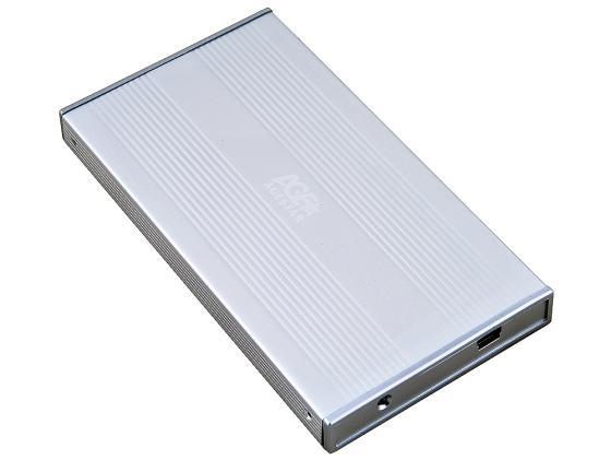 Внешний контейнер для HDD 2.5 SATA AgeStar SUB2S USB2.0 серебристый выключатель автоматический abb 1п c 63а sh201l 4 5ка