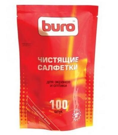 Влажные салфетки BURO BU-Zscreen 100 шт футболка с полной запечаткой для девочек printio the joker