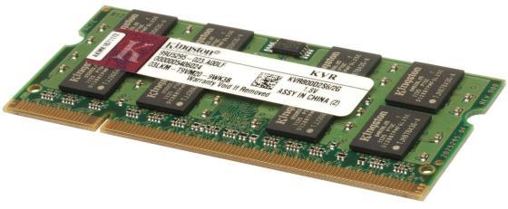 Оперативная память для ноутбуков SO-DDR2 2Gb PC6400 800MHz Kingston KVR800D2S6/2G kingston ddr2 sodimm 2gb pc 6400 kvr800d2s6 2g
