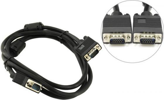 Кабель для монитора 5bites APC-133-018 VGA сигнальный HD15M/HD15M, ферр.кольца, 1.8м.