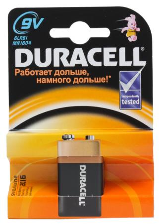 Батарейка Duracell 6LR61-1BL/6LF22 6LR61 1 шт батарейка smartbuy sbba 9v01b 6lr61 1 шт
