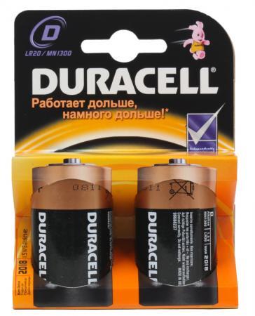 Батарейки Duracell Basic LR20 2 шт батарейки defender lr20 2b d 2 шт 56022
