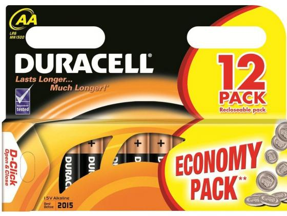 Батарейки Duracell Basic AA 12 шт батарейки duracell mn21 b1 security 12v alcaline