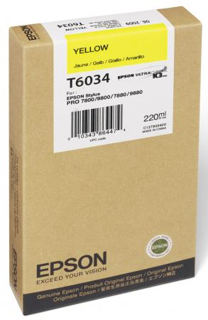 Картридж Epson C13T603400 для Epson Stylus Pro 7800/9800/7880/9880 желтый einkshop maintenance ink tank for epson stylus pro 4000 4400 4450 4800 4880 7800 7880 9800 9880 9890 9900 printer waste ink tank