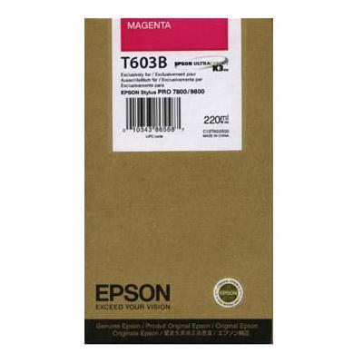 Картридж Epson C13T603B00 для Epson Stylus Pro 7800/9800 пурпурный картридж epson c13t603b00 для epson stylus pro 7800 9800 пурпурный