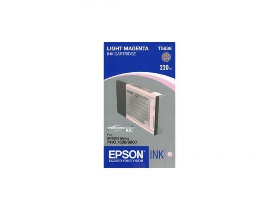 Картридж Epson C13T603C00 для Epson Stylus Pro 7800/9800 светло-пурпурный картридж epson c13t603b00 для epson stylus pro 7800 9800 пурпурный