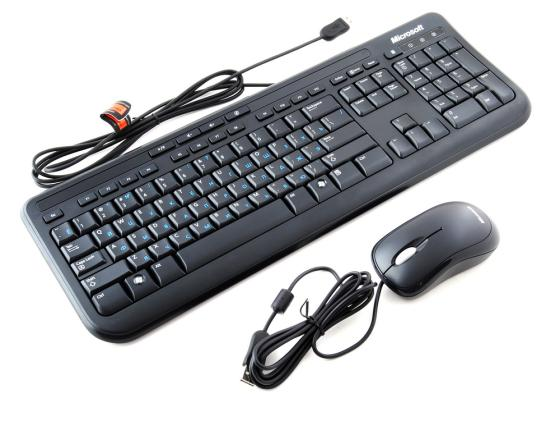Комплект Microsoft 600 черный USB APB-00011