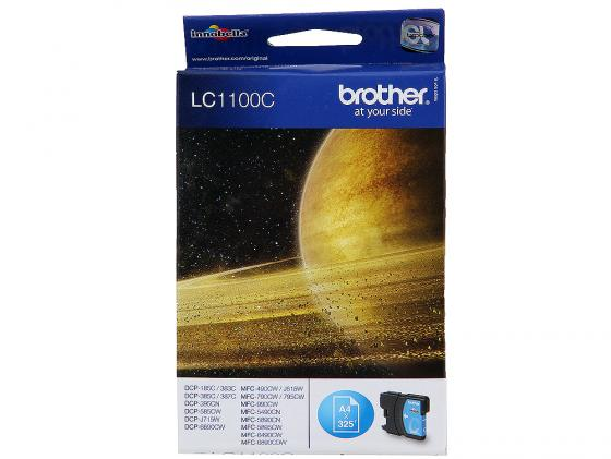Картридж Brother LC1100C для DCP-385C MFC-990CW DCP-6690CW голубой brother lc1220y yellow картридж для brother dcp j525w mfc j430w mfc j825dw