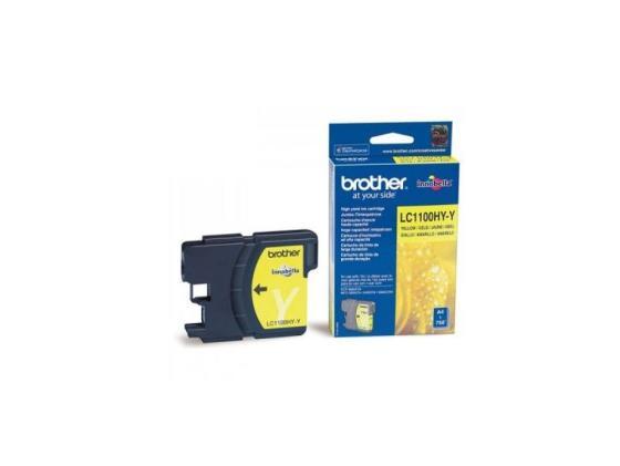 Картридж Brother LC1100HYY для DCP-6690CW желтый увеличенный картридж brother lc1100hyy