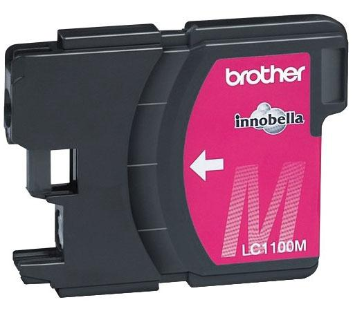 Картридж Brother LC1100M для DCP-385C MFC-990CW DCP-6690CW пурпурный for brother lc22u lc 22u lc 22u permanent chip for brother mfc j985dw dcp j785dw