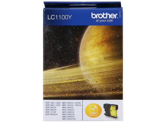 Картридж Brother LC1100Y для DCP-385C MFC-990CW DCP-6690CW желтый for brother lc22u lc 22u lc 22u permanent chip for brother mfc j985dw dcp j785dw