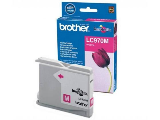 Картридж Brother LC970M для DCP-135C MFC-235C пурпурный 5x ink cartridge lc10 lc37 lc51 lc57 lc960 lc970 lc1000 for brother dcp 130c dcp 135c mfc 235c mfc 240c printer inkjet