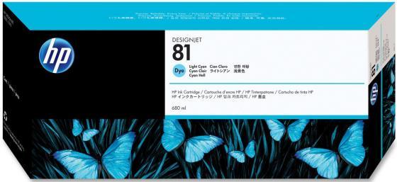 все цены на Картридж HP C4934A №81для для DesignJet 5000/5500 680мл, Light Cyan онлайн