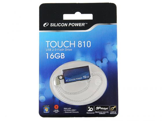 Флешка USB 16Gb Silicon Power Touch 810 SP016GBUF2810V1B синий смартфон lenovo vibe c2 power 16gb k10a40 black