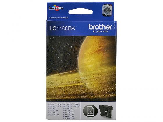 Картридж Brother LC1100BK для DCP-385C MFC-990CW DCP-6690CW черный for brother lc22u lc 22u lc 22u permanent chip for brother mfc j985dw dcp j785dw