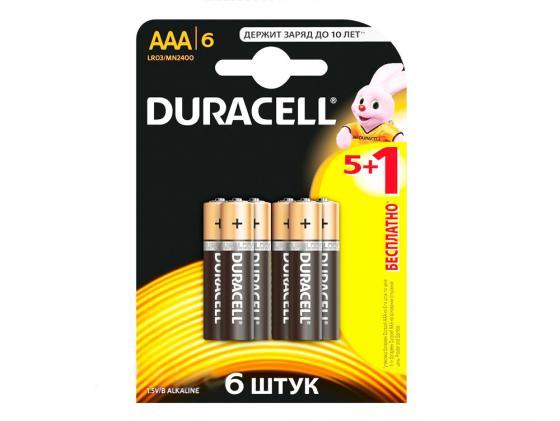 Батарейки Duracell Basic AAA 6 шт