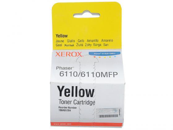 Картридж Xerox 106R01204 для Xerox Phaser 6110 желтый 1000стр картридж xerox 108r00909 для phaser 3140 2500стр