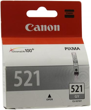 Картридж Canon CLI-521GY для PIXMA iP3600 iP4600 MP540 MP620 MP630 MP980 серый canon cli 521gy gray