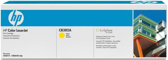Картридж HP CB382A желтый для CLJ CM6030 CM6040 картридж для принтера hp 824a cb382a yellow