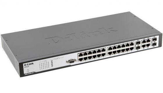 Купить Коммутатор D-LINK DES-3200-28 управляемый 24порта 10/100Mbps + 4 Combo SFP