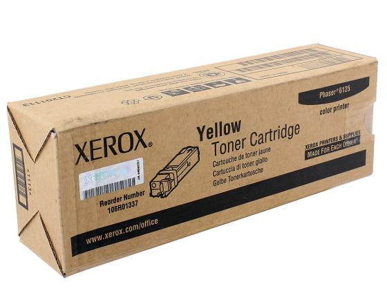 Картридж Xerox 106R01337 для Xerox Phaser 6125N желтый 1000стр xerox yellow 106r01337