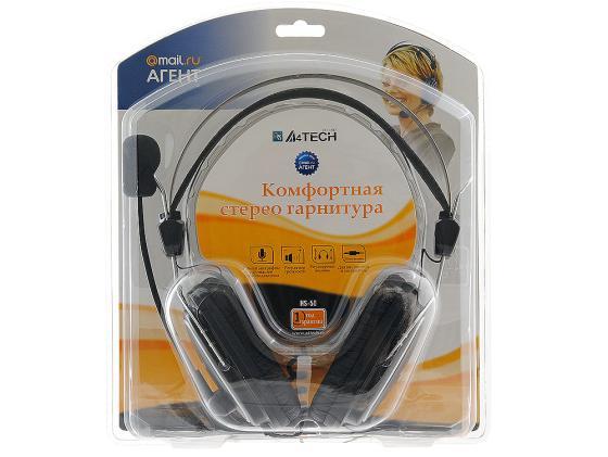 Гарнитура A4Tech HS-50 черный микрофон a4tech mi 10