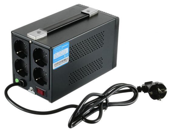 Стабилизатор напряжения Ippon AVR-1000 4 розетки 1 м черный стабилизатор ippon avr 1000