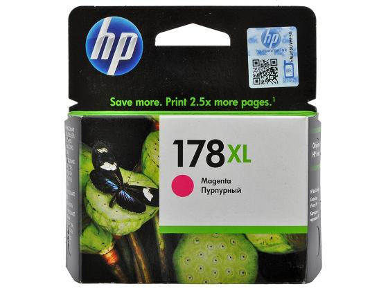 Картридж HP CB324HE №178XL для Photosmart C5383 C6383 B8553 D5463 пурпурный увеличенный чернильный картридж hp 178xl cb322he black