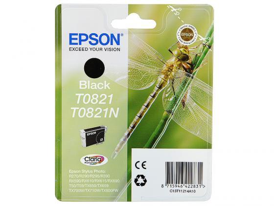 Картридж Epson C13T11214A10/С13T08214A T0821 для Epson Stylus Photo R270/290/RX590 черный температура и влажность датчики ми mijia