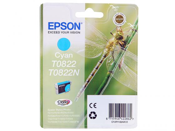Картридж Epson C13T11224A10/С13T08224A T08224A для Epson Stylus Photo R270/290/RX590 голубой картридж epson t0825 c13t11254a10 для epson r270 290 rx590 светло голубой