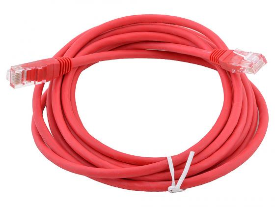 Патч-корд UTP 5e категории 5м красный CCA PVC