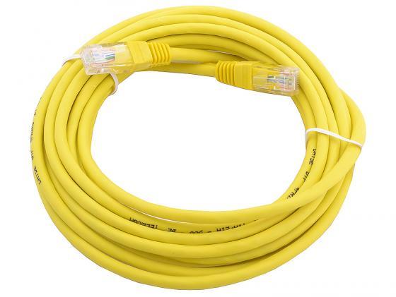 Патч-корд UTP 5e категории 5м желтый CCA PVC