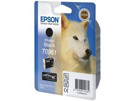 Картридж Epson C13T09614010 T0961 для Epson Stylus Photo R2880 Photo Black черный