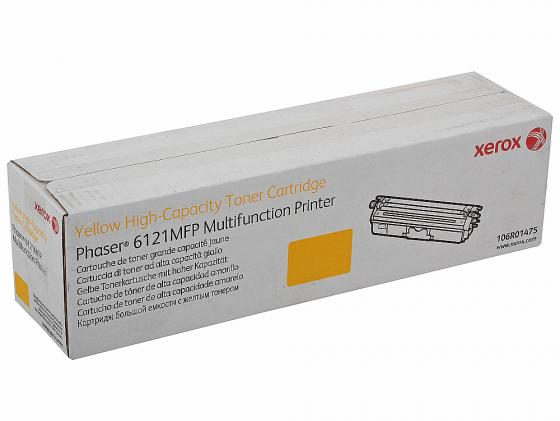 Картридж Xerox 106R01475 для Phaser 6121MFPS Yellow Желтый 2500стр. картридж xerox 108r00909 для phaser 3140 2500стр