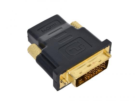 Переходник HDMI F - DVI M ORIENT С485 переходник ningbo hdmi m dvi d f позолоченные контакты черный cab nin hdmi m dvi d f