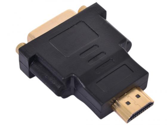 Переходник HDMI M - DVI F ORIENT С484 переходник ningbo hdmi m dvi d f позолоченные контакты черный cab nin hdmi m dvi d f